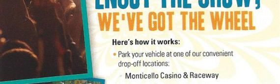 Roscoe Park & Ride To Bethel Woods Now Available!
